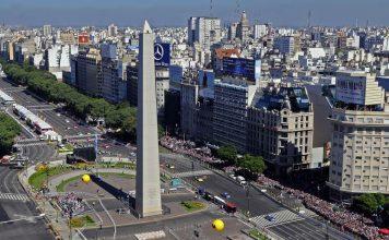 ciudad, obelisco, clima