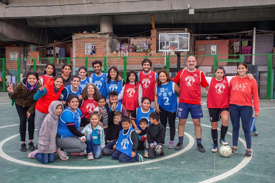 nosotras, juego, futbol