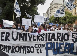 marcha, docentes
