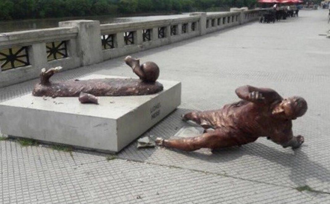 messi, estatua