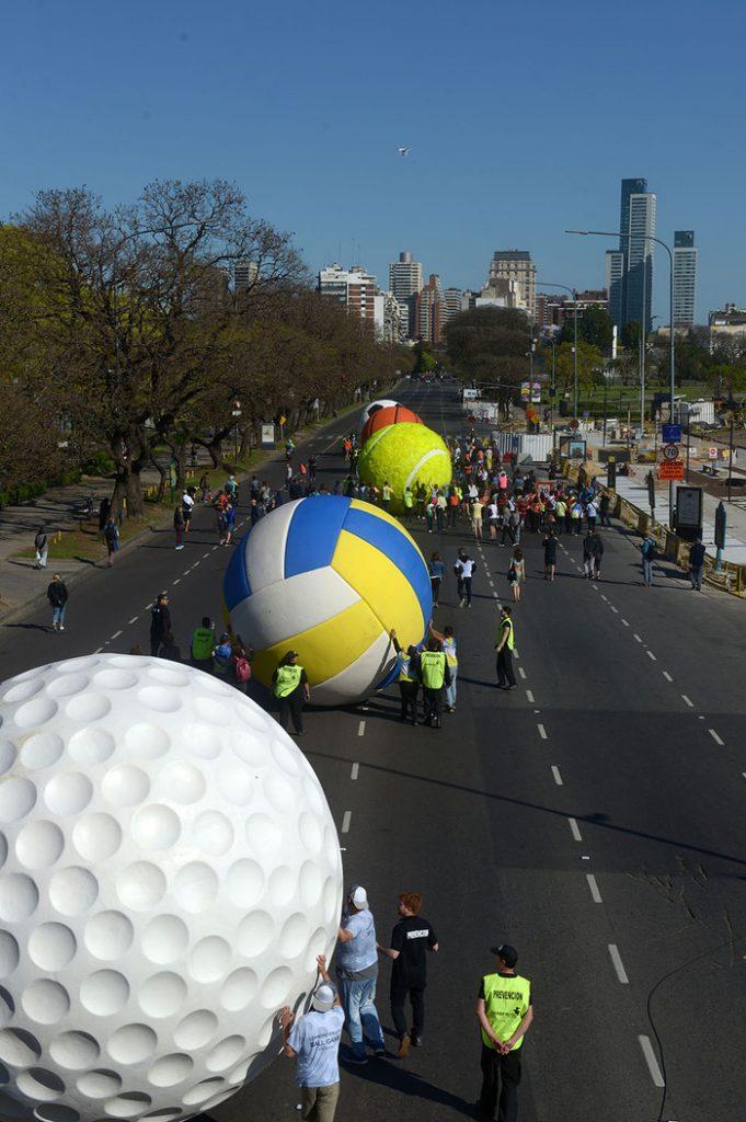 instalacion, balones