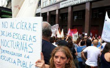 docentes, protesta, escuelas
